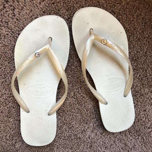 691fb1f3b Havaianas Shoes - 💍 Havaiana Pearl white sandal w jewel size 7 8